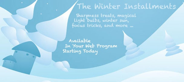 December Is Here:  Winter Installments!